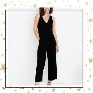 Madewell Texture&Thread Black Ribbed jumpsuit (C5)